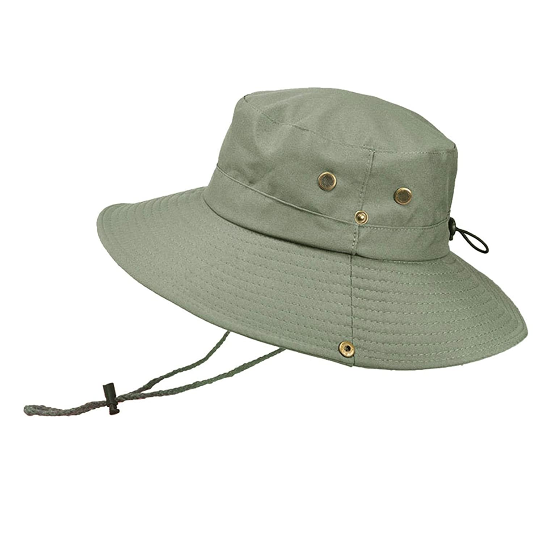 BOOBODA Outdoor Visor Mountaineering Hat for Men Boonie Cap Adjustable Sun Protection Cap UV Protection Cap