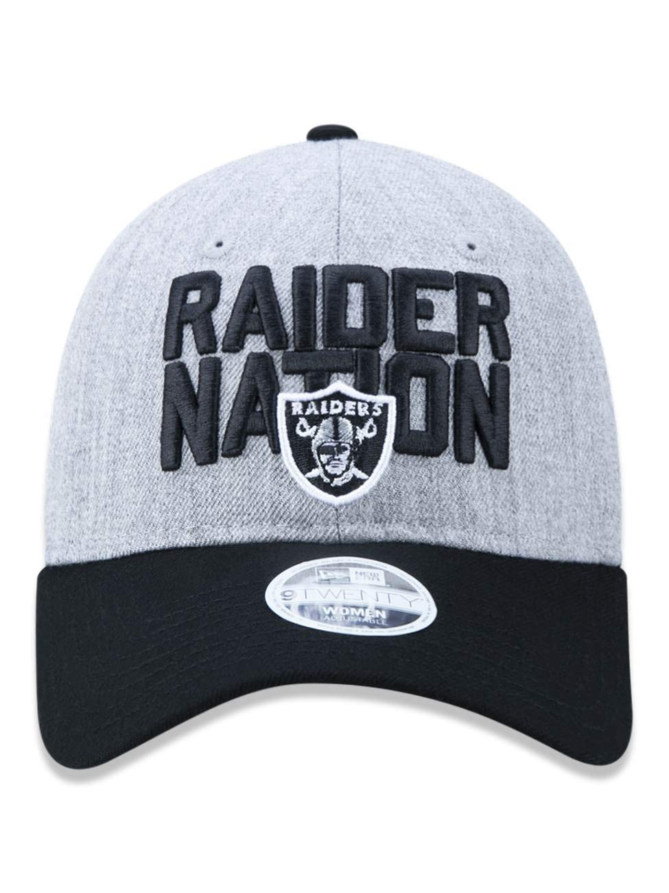 BONE 920 OAKLAND RAIDERS NFL ABA CURVA MESCLA CINZA NEW ERA  Amazon.com.br   Amazon Moda 486f28e3879