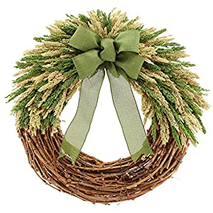 "Floral Treasure 22"" Simple Beauty Wreath Large Green 20"