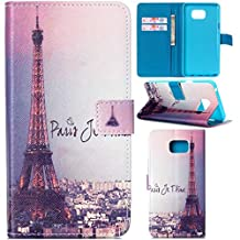Note 5 Case, Galaxy Note 5 Case,Gift_Source Brand [Kickstand Feature] Wallet PU Leather Folio Wallet Flip Case Cover for Samsung Galaxy Note 5 Case [I Love Paris]