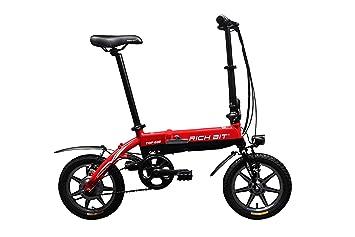 RICH BIT: RT-618 Bicicleta eléctrica Plegable, Motor 250 W, batería Ion