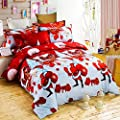 Christmas Bedding Set with 3D Printed Santa Claus and Elk (New Year Present)-3Pcs-Duvet Cover and 2 Pillowcases