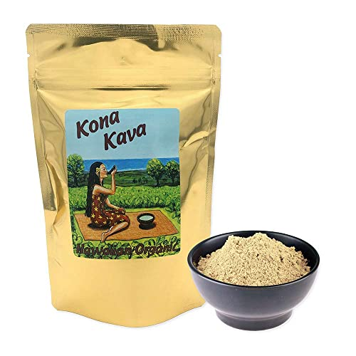 Kona Kava Farm Gourmet Formula Instant 9 Kavalactone Powder Mix Potent Maximum Power Micronized Supplement Drink Pure Happiness, Joy Energy Now in a Cup Premium Quality Cocoa, 8 oz