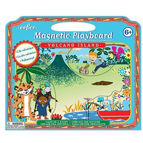 eeBoo Volcano Island Magnet Make Me a Story by eeBoo