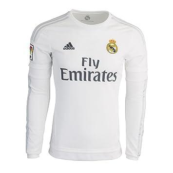 Adidas Camiseta 1ra FC Real Madrid De Manga Larga 2015-16 (XS): Amazon.es: Deportes y aire libre