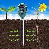 Longruner 2 Packs 3-in-1 Soil Moisture Light and PH acidity Tester Plant Tester Indoor Outdoor Soil Moisture Sensor Meter Plant Care Hygrometer Water Monitor for Garden Farm Lawn (No Battery needed)