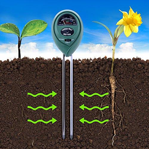 Kuman 2 Packs 3in1 Soil Moisture Meter, Light and PH Acidity Tester Plant Tester Indoor