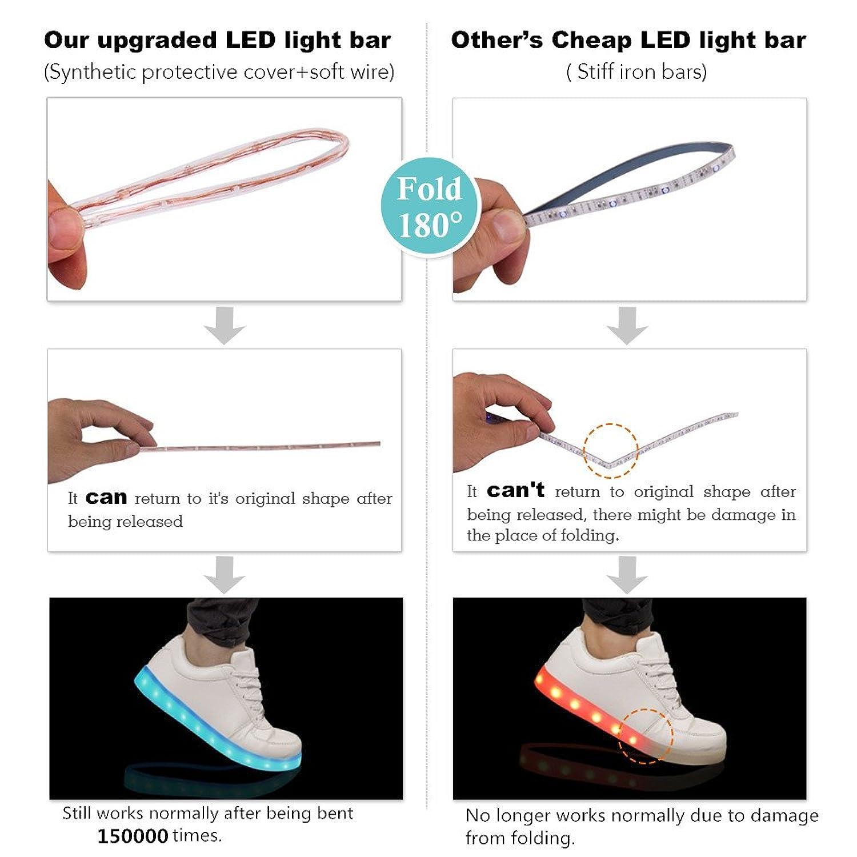 Amazon.com | HINZER LED Light up Shoes 2017 Upgrade Light System 7 ...