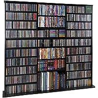 Leslie Dame CDV-1500BLK High Capacity Oak Veneer Multimedia Cabinet, Black