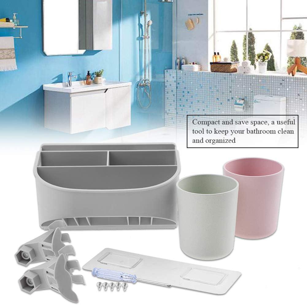 Garosa Zahnb/ürstenhalter mit Toothpaste Squeezer Haartrockner Halter Wandmontage f/ür Haus Hotel Badezimmer Zubeh/ör Erwachsene Kinder #1