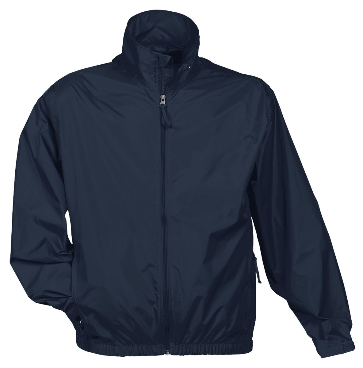 Tri Mountain Men's Lightweight Water Resistant Jacket, Navy, Large