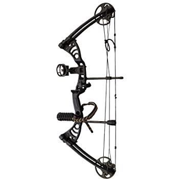"Southland Archery Supply SAS Scorpii 55 Lb 32"" Compound Bow (Black w/Accessories Kit)"