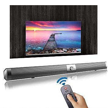 Bluetooth Altavoz del televisor Barra de Sonido, 2.0 Canales de ...