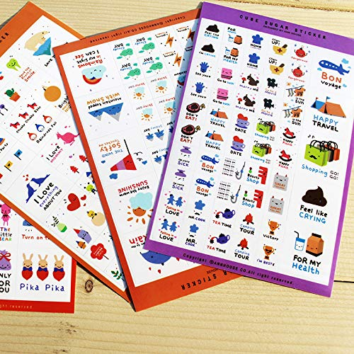 5PCS Agenda Organizador Planificador Pegatinas Manualidades Scrapbooking Pegatinas Candy Dream Stickers para Craft Scrapbook Calendar Calendarios