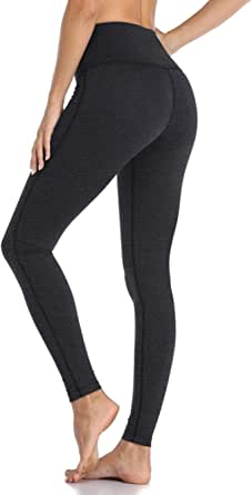 Roseseedlove High Waist Workout Leggings for Women Tummy Control Pants 4 Way Stretch Yoga Leggings with Pockets NW100