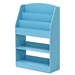 FURINNO KidKanac Bookshelf, Light Blue