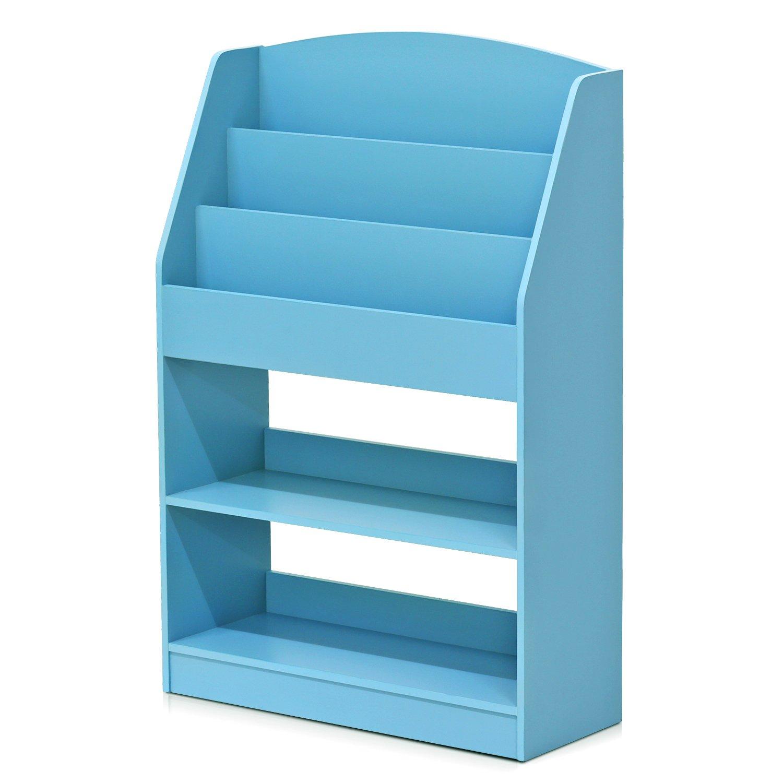 Furinno FR16118LB KidKanac Bookshelf, Light Blue by Furinno (Image #1)