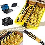 45 Piece in 1 Screwdriver Tweezer Repair Tool Kit mobilephon Cellphone Tablet PC
