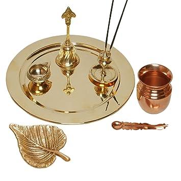 Buy MA DESIGN HUT Pooja Thali Diwali Decoration Diwali Gift Brass