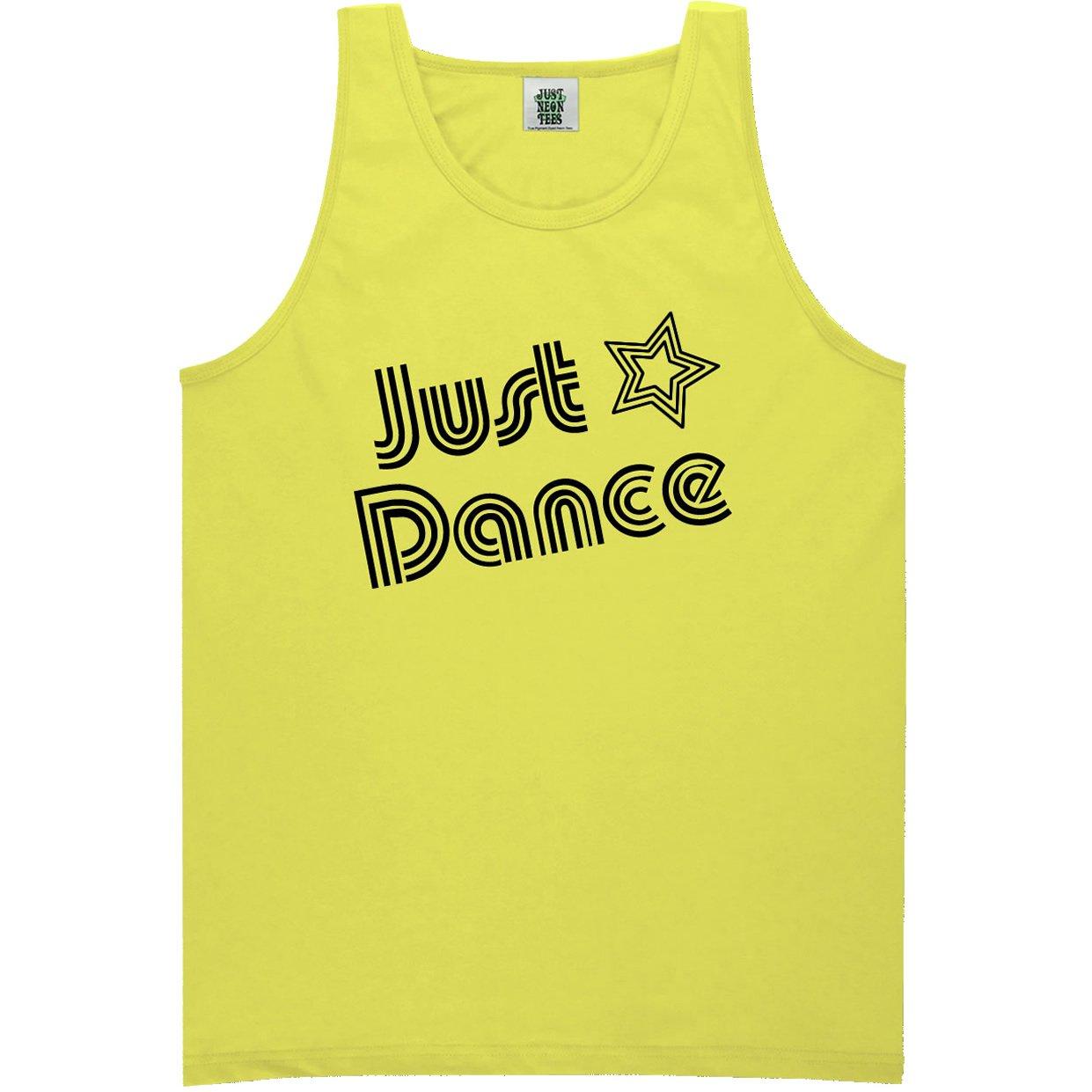 ZeroGravitee Youth Just Dance Bright Neon Yellow Tank Top X-Small