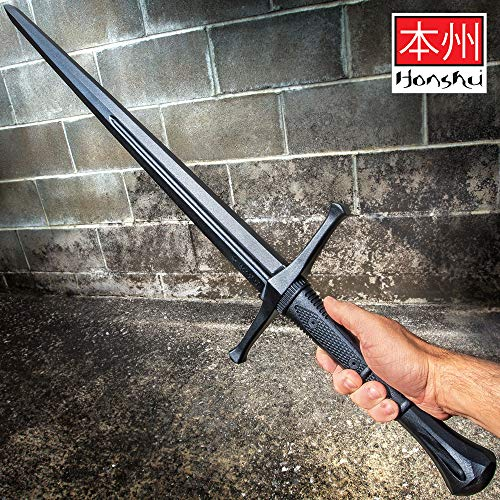 Honshu Practice Broadsword - Polypropylene Construction, Textured Handle, Mimics Real Broadsword, for Training - Length 43 1/2