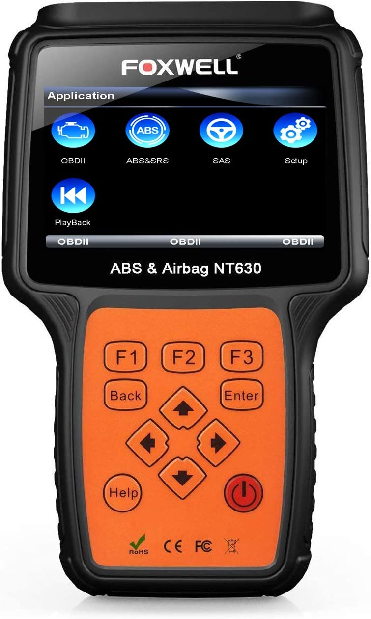 FOXWELL NT630 SRS Scan OBD2 Bi-Directional Automotive Diagnostic Code Reader ABS Auto Bleed Reset Tool OBD II Airbag Active Scanner