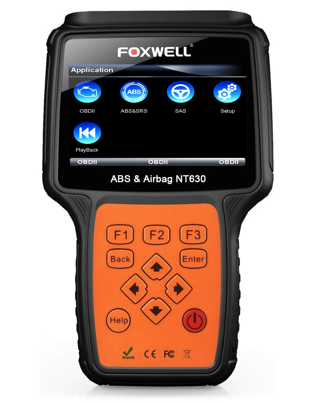 Foxwell Nt630 Plus Srs Automotive Obd2 Scan Obd Ii Abs 2000 Acura Rl Port Location Bleeding Diagnostic Scanners Air Bag Engine Light Reset Tool
