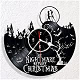 HMGift Nightmare Before Christmas Vinyl wall clock - great gift for birthday, anniversary or any other occasion - beautiful home decor - unique design that made out of retro vinyl record