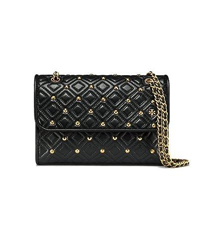 6a7e703cbfe8 Tory Burch Fleming Stud Small Black Shoulder Bag  Amazon.ca  Shoes    Handbags