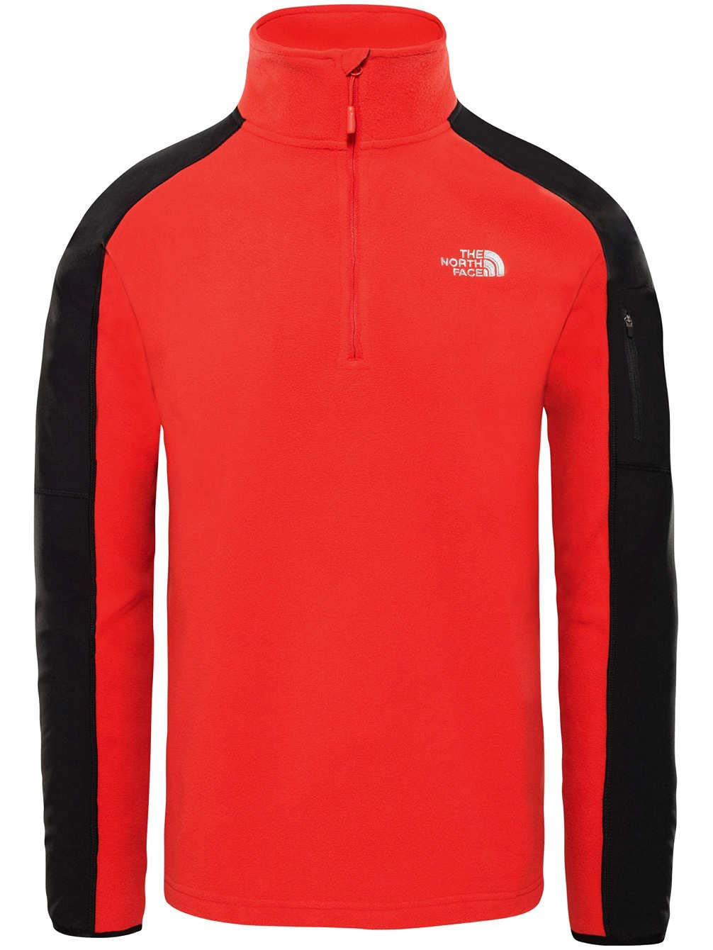 The North Face Glacier Delta 1/4 Jersey, Hombre, Salsa Red/TNF