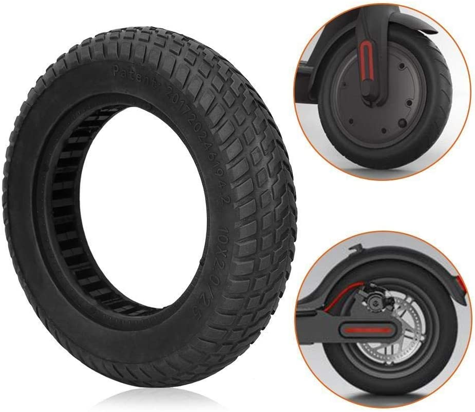 REOUG Durable Explosion-Proof Tubeless Solid Tire for 10 Inch Electric Scooter