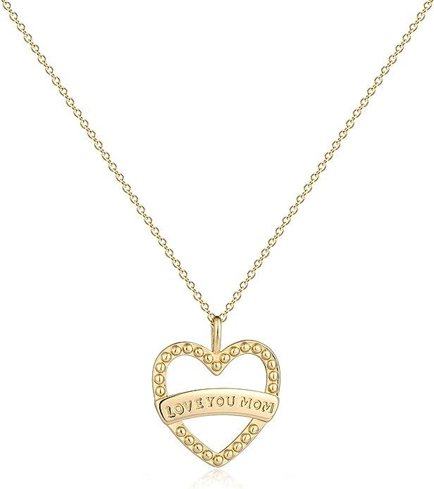 16 mm 14K White Gold #1 Mom Pendant Jewels Obsession #1 Mom Charm Pendant