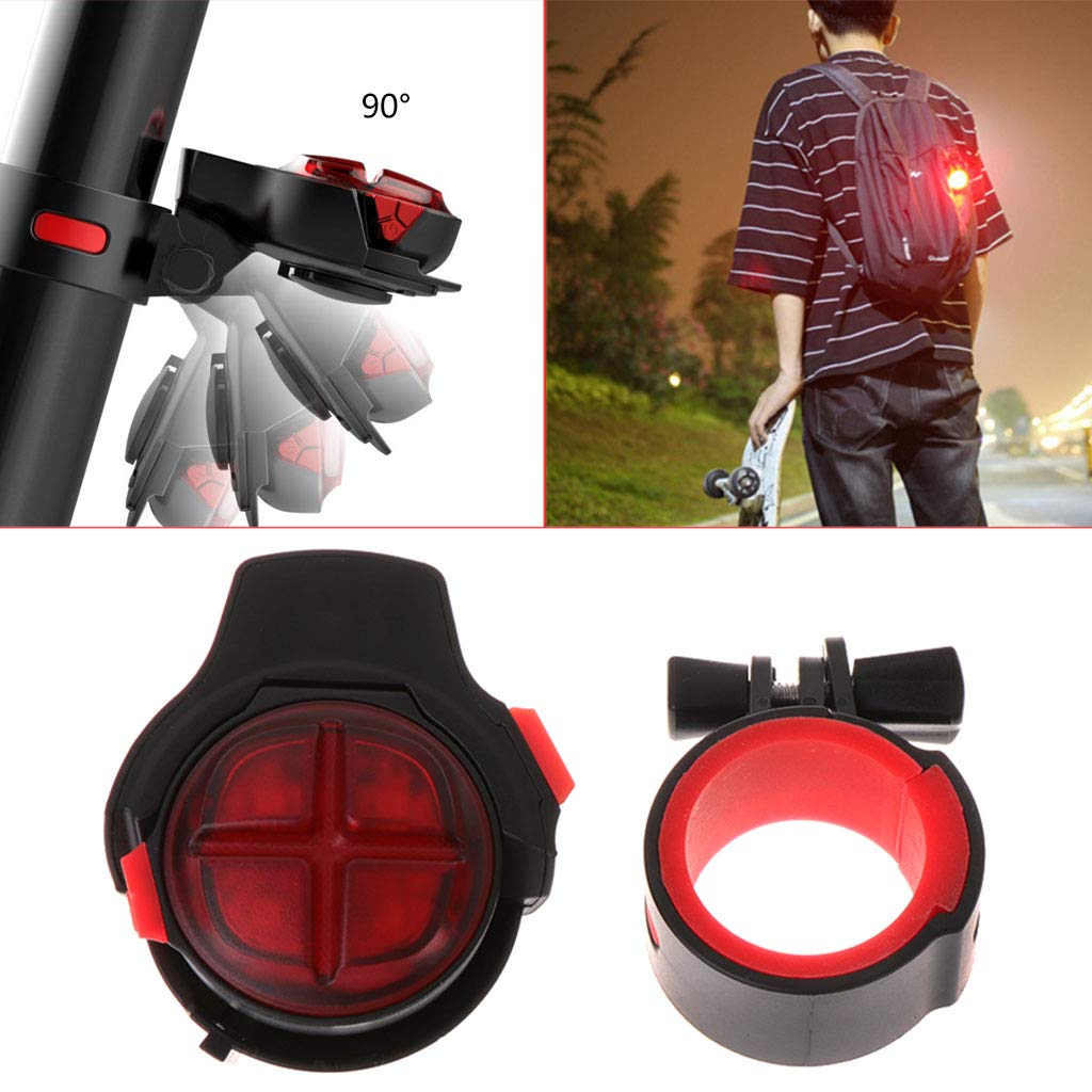 CUTEQ Bicycle Tail Light Brake Sensor Warning Lamp with USB Rechargeable Waterproof for Optimum Cycling Safety at Night by CUTEQ (Image #2)