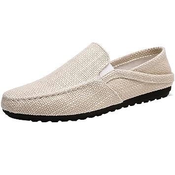 874c4f019e5 YaNanHome Chaussures Bateau Chaussures Homme Toile Chaussures Hommes été  Tissu Respirant Chaussures Hommes Occasionnels Chaussures Style