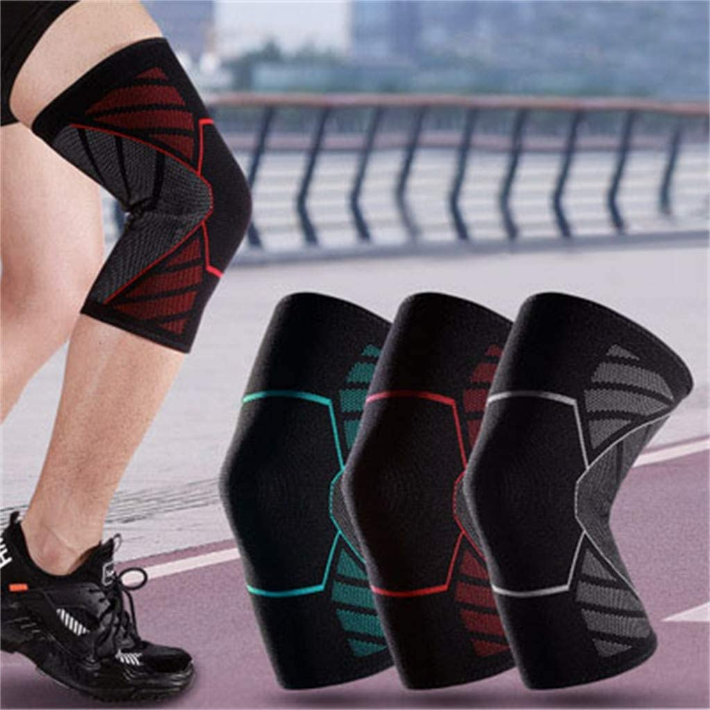 SPORTTIN Knee Compression Pads Anti-Slip Breathable Fitness Outdoor Running Basketball Knee Brace Sleeves
