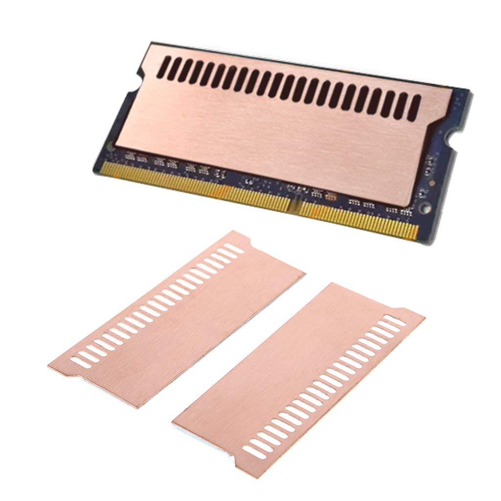 Easycargo Laptop Memory Heatsink Kit, Copper Heat Sink + Pre-Applied Thermal Conductive Adhesive Tape for Cooling Laptop Memory RAM