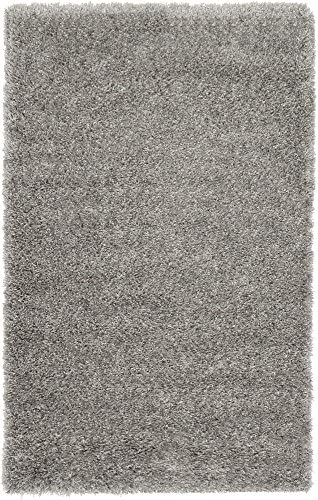 Unique Loom Luxe Solo Collection Plush Modern Gray Area Rug 3 3 x 5 3