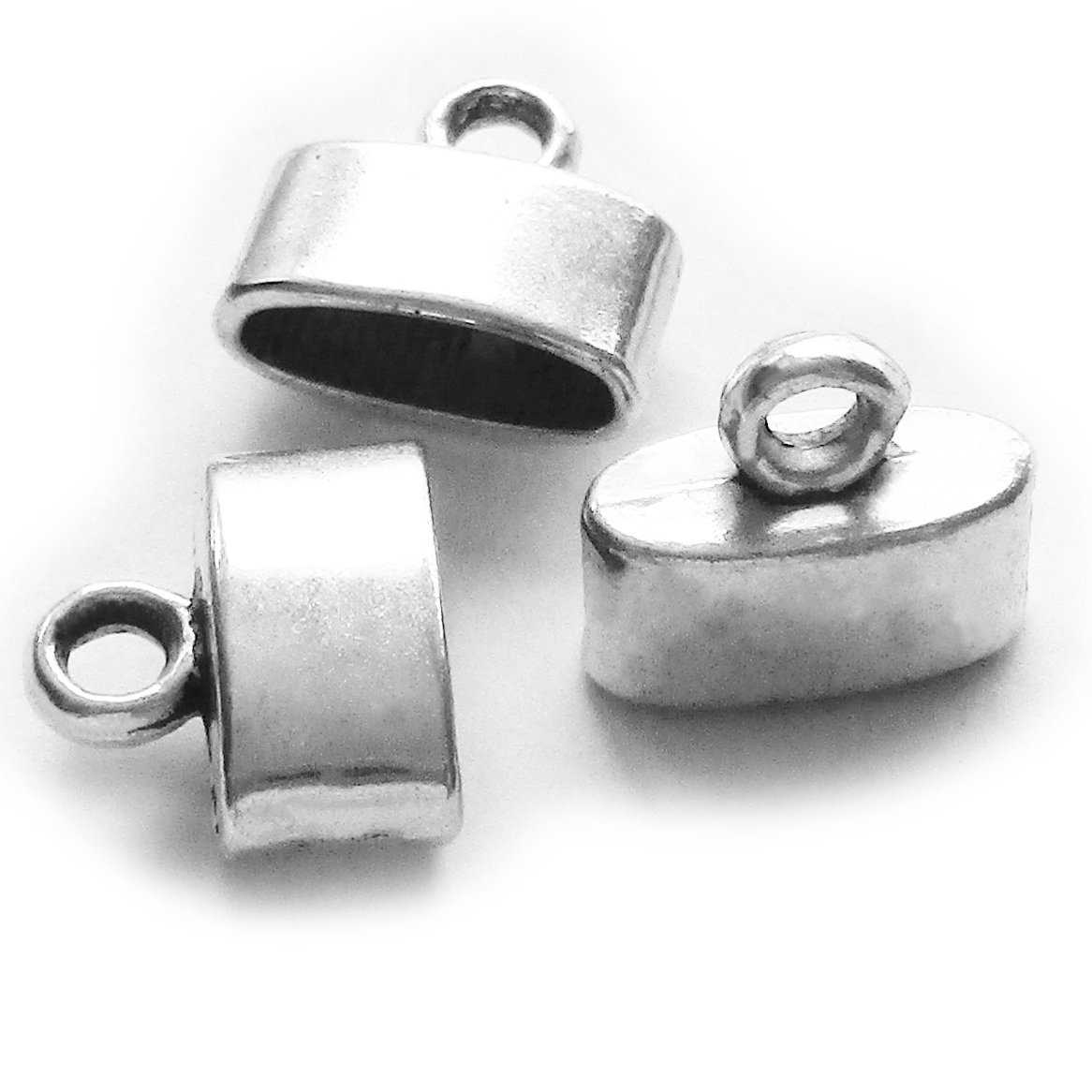 Heathers cf Silver Leather Cord Ends Caps Combination 90 Pieces