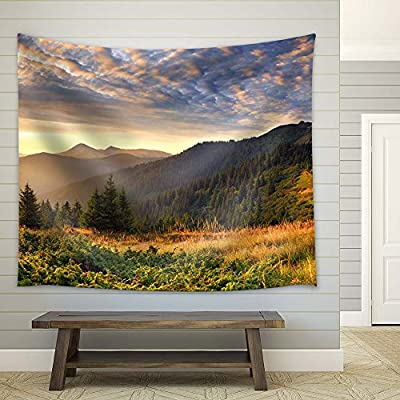 Beautiful Mountain View in Autumn, Made With Love, Pretty Object of Art