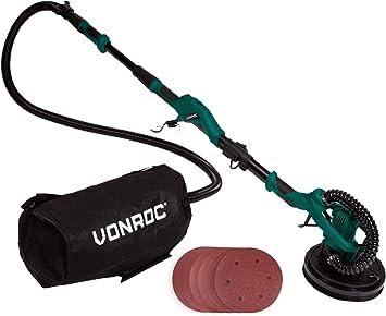 VONROC Lijadora telescópica para paredes y techos 1050W - 225mm - Ideal para lijar techos y paredes: Amazon.es: Bricolaje y herramientas