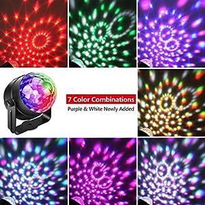61TY0nZyy7L. SS300  - Neue-Version-Led-Discokugel-Alviller-Discolicht-Disco-Lichteffekte-Party-Licht-Partylicht-Diskokugel-Beleuchtung-Disco-Light-with-7-Farbe-fr-Kinder-Geburtstag-Karaoke-KTV-Club-Weihnach