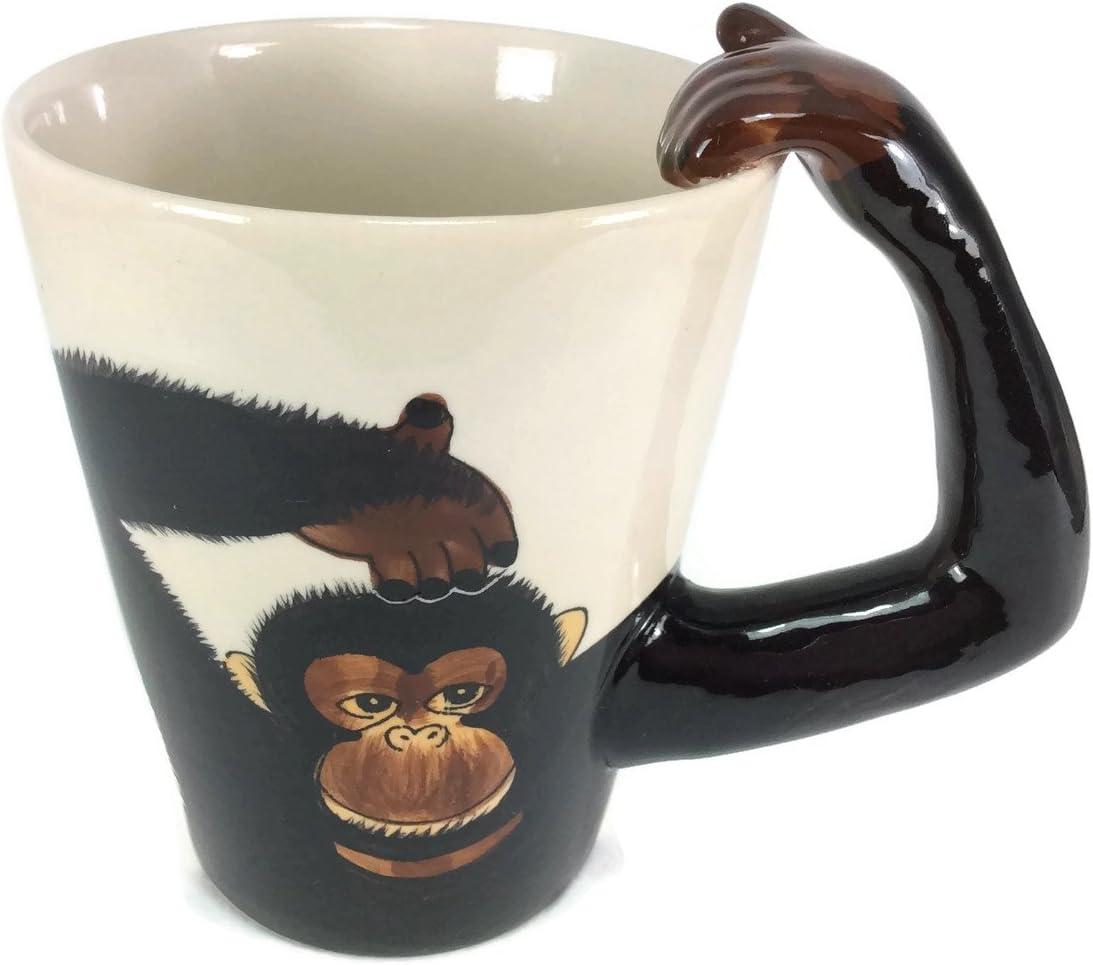 Amazon Com Mug Monkey Chimpanzee Enamel Cartoon Painted Milk Glass Coffee Cup Cute Mugs Mug For Kid Coffee Cups Mugs