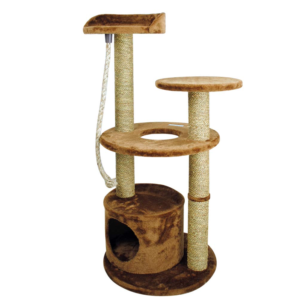Cat tree Activity Center Seaweed rope cat climbing frame grinding cat room multi-layer luxury structure