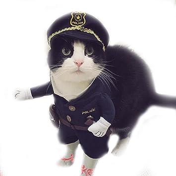 Amazon.com: Halloween gato de mascota Perro policía disfraz ...
