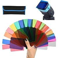 WOWOSS Filtro Iluminación Gel Transparent para Cabezales de Flashes, Filtro de Corrección de Color para Estudio…