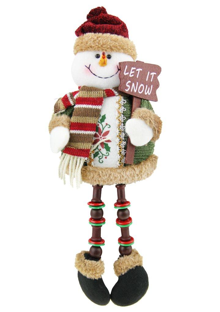 Amazon.com: Christmas Decorations Sitting Father Christmas Santa ...