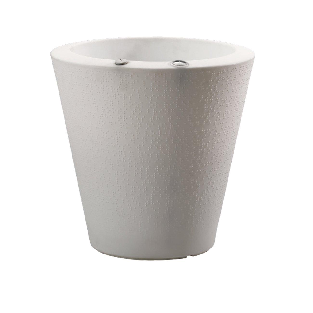Crescent Garden Indoor/Outdoor Self-Watering Container, Alpine White, 26 in.