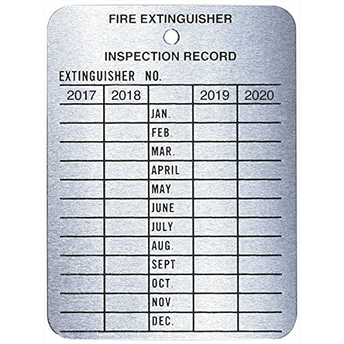 4-Year Metal Inspection Tag (45 Pack)