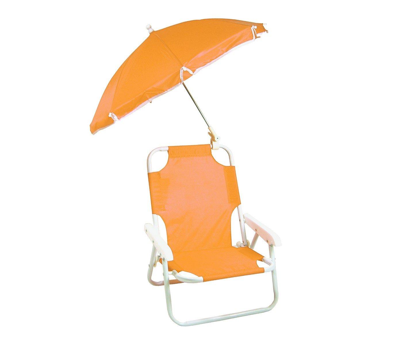 MEDIAWAVE Store 2576 Sedia pieghevole per bambini con ombrellino protezione raggi uv (Arancio)