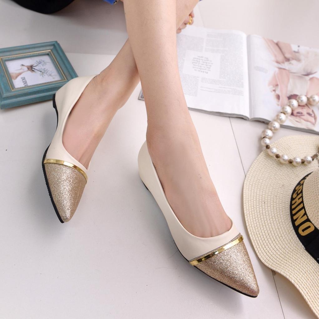 2130316be827d Zapatillas para Mujer Verano 2018 PAOLIAN Casual Zapatos de Plano Chic  Fiesta Zapatillas Suela Blanda Lentejuelas Zapatos con Punta Negocios  Sandalias y ...